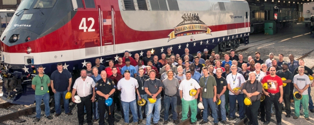 Amtrak proudly hires United Satates Veterans